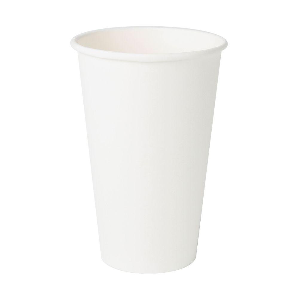Pappbecher 400 ml / 16 oz, Ø 90 mm, weiß