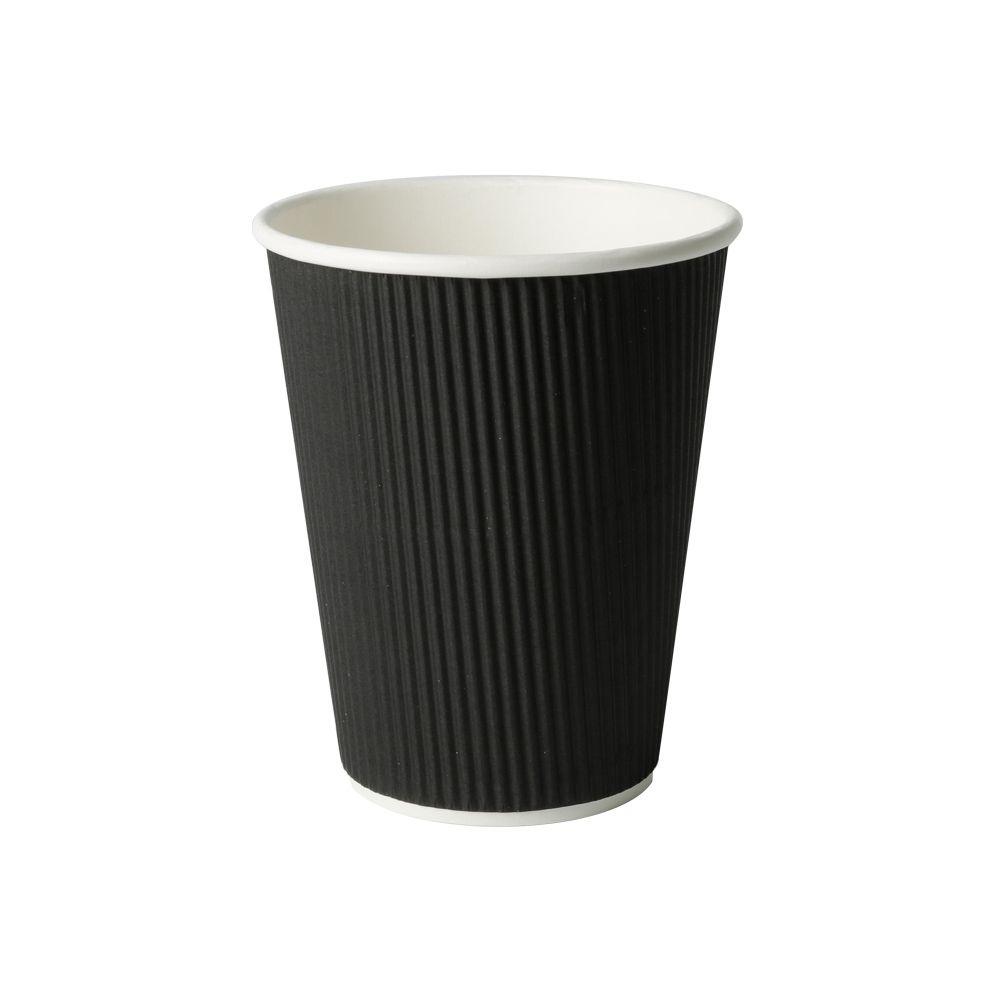 Riffelbecher 300 ml / 12 oz, Ø 90 mm, schwarz