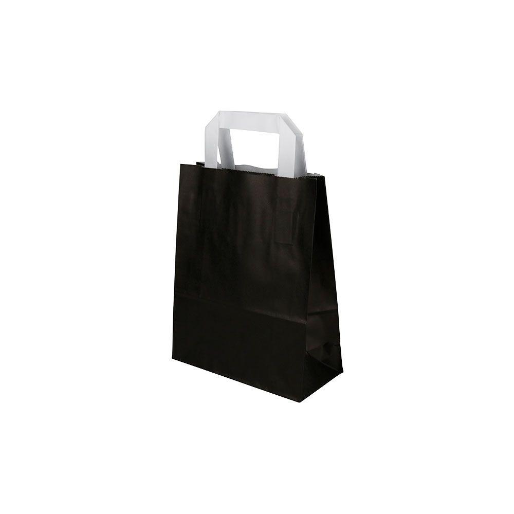 Kraftpapier-Tragetaschen S, 18 x 8 x 22 cm, schwarz