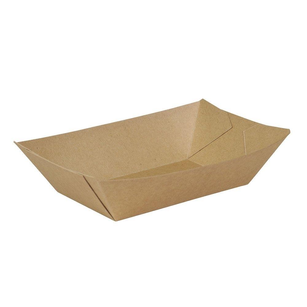 Premium-Karton-Snack-Schalen 500 ml, braun, bio-beschichtet