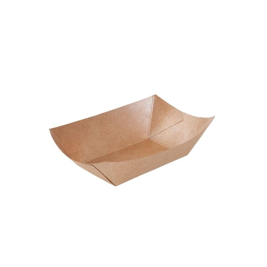 Karton-Snack-Schalen 200 ml, braun, PLA-beschichtet
