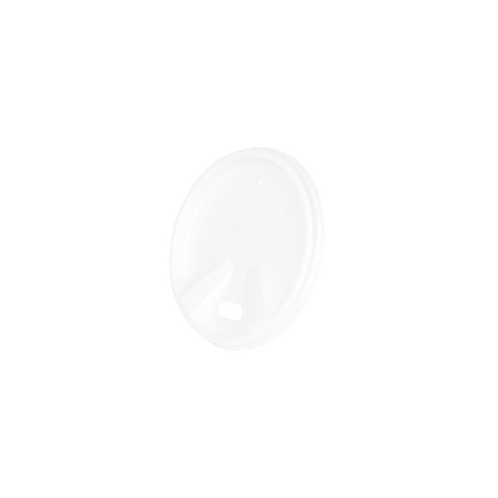 CPLA-Deckel Ø 62 mm, weiß, Trinköffnung