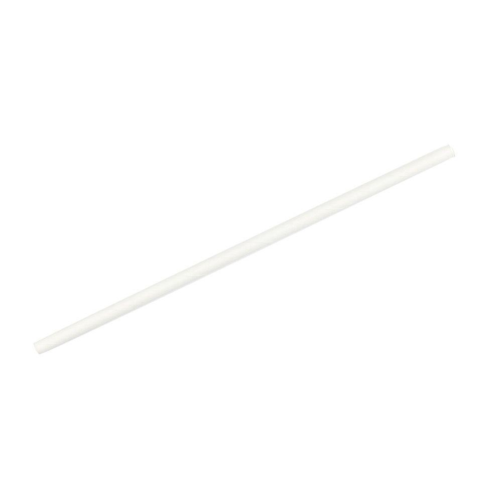 Papier-Trinkhalme 21 cm, Ø 0,6 cm, weiß